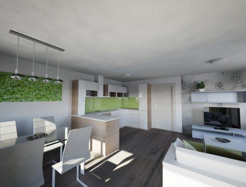 Novostavba bytové jednotky 3+kk Sokolnice